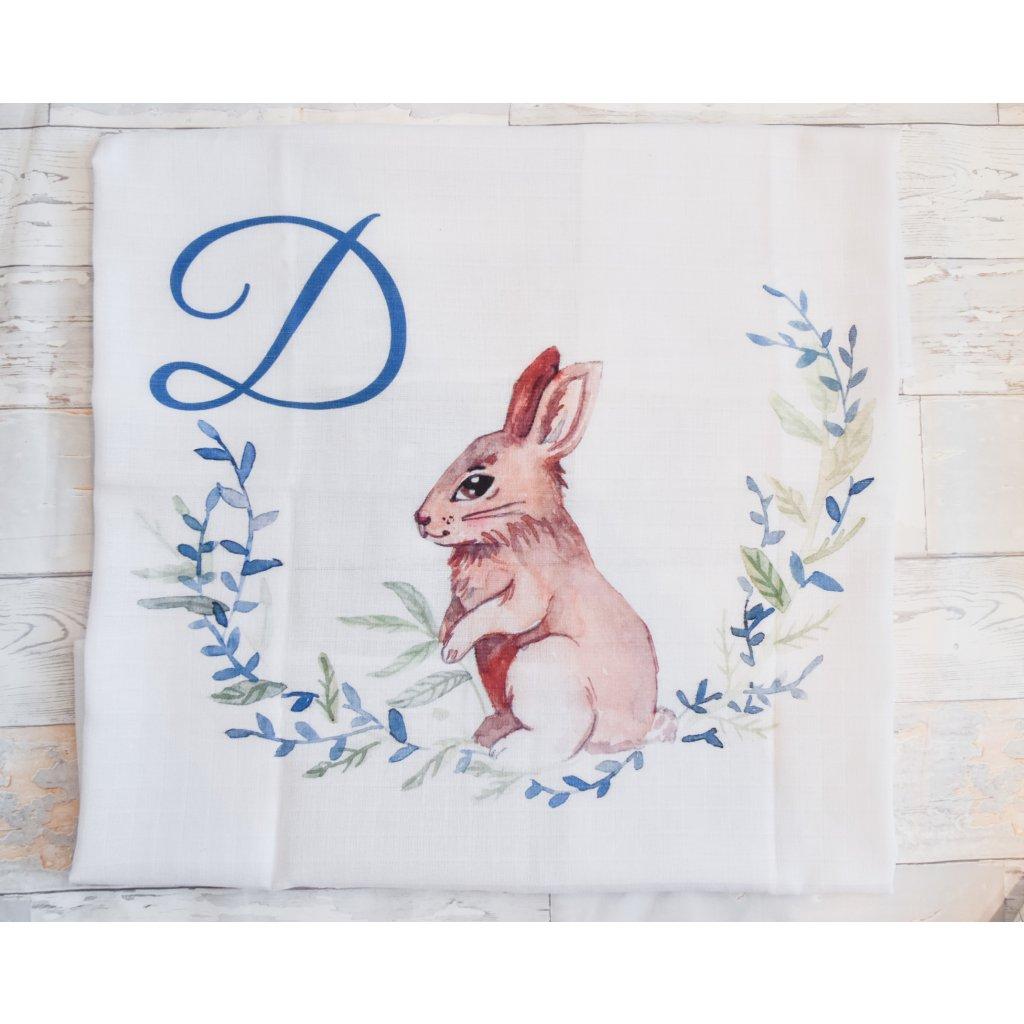 Zajíček - monogram D