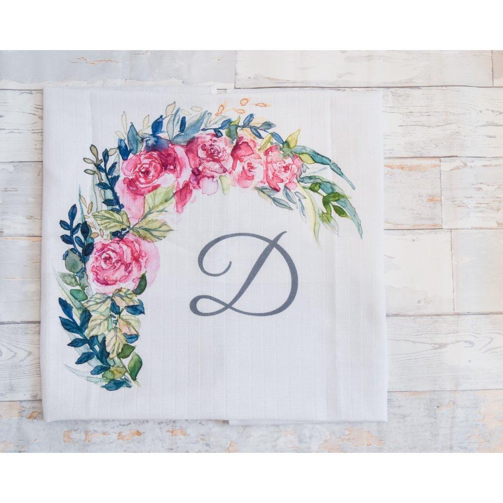 Květiny - monogram D