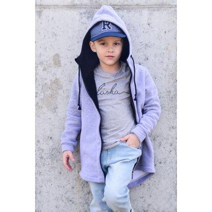 Dětské šedé tričko Láska