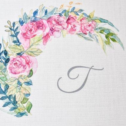 Květiny - monogram T