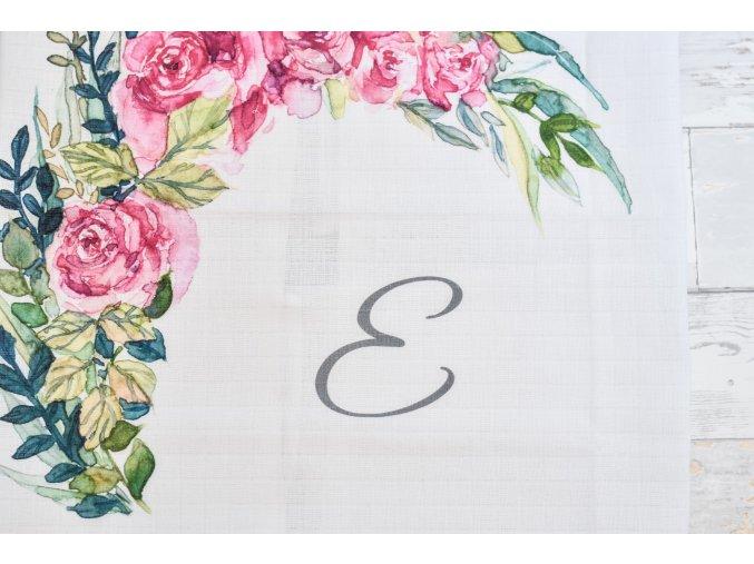 Květiny - monogram E