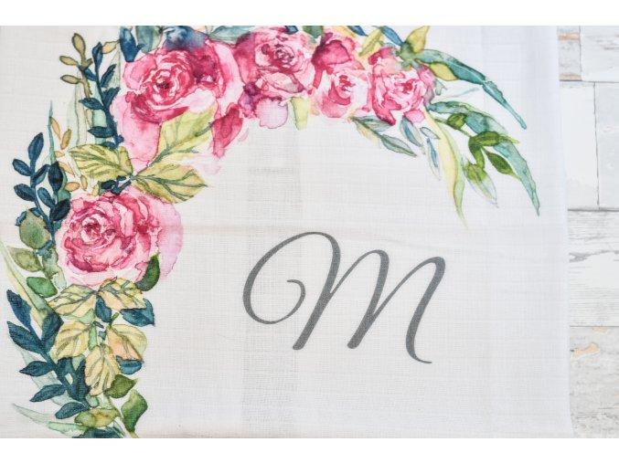 Květiny - monogram M