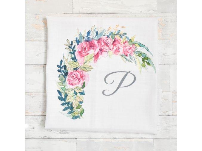 Květiny - monogram P