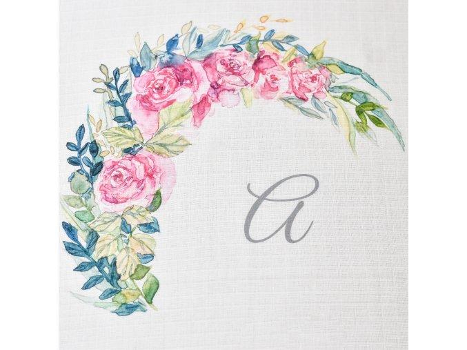 Květiny - monogram A