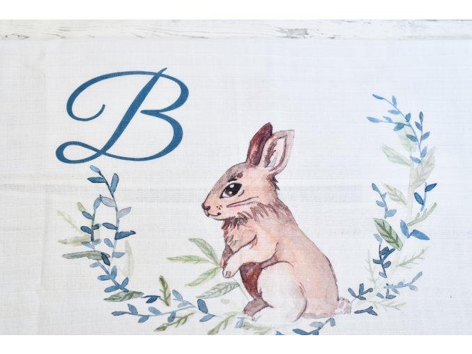 Zajíček - monogram B