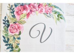 Květiny - monogram V