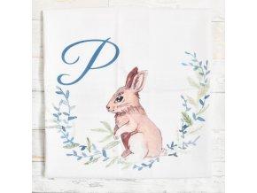 Zajíček - monogram P