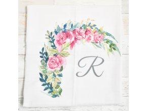 Květiny - monogram R