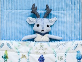 Luxusní deka - Modrý akvarel