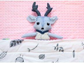 Luxusní deka - Růžová sova